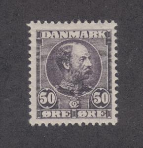 Denmark Sc 68 MLH. 1905 50o dull violet King Christian X, Key Value to Set, VF