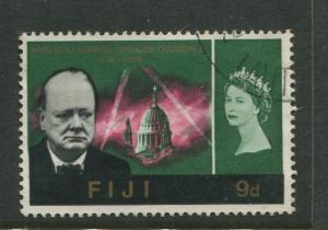 Fiji - Scott 216 - Churchill Issue 1965 - FU - Single 9d Stamp