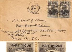 Martinique 2F Eboue (2) 1945 Fort de France, Martinique to Arlington, Va. For...