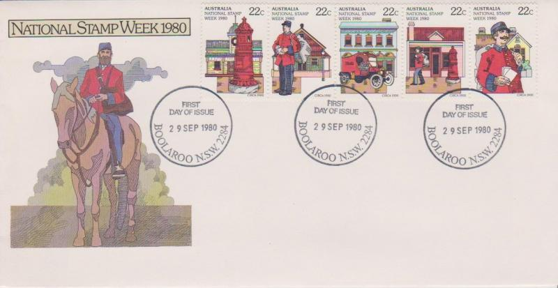 Australia 1980 National Stamp Week Strip First Day Cover