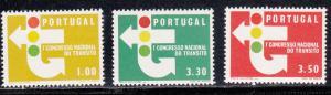 Portugal # 942-944, Traffic Signs, Mint NH, Half Cat