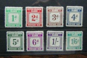 Solomon Islands 1940 Postage Due set to 1/6 MM SGD1 - D8