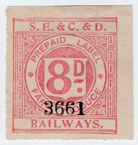 (I.B) South Eastern & Chatham & Dover Railways : Farm Produce 8d