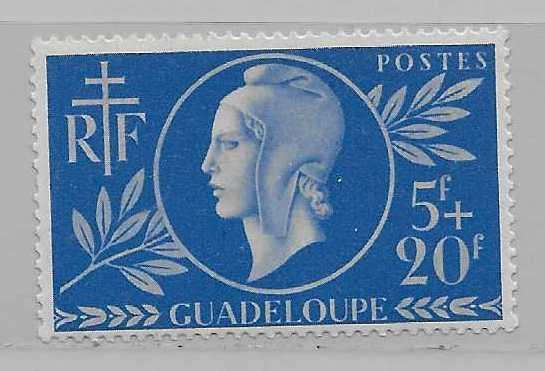 Guadeloupe B12 Red Cross single MLH