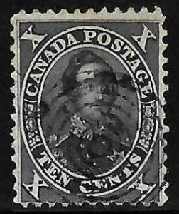 Canada #16 Used Black Brown -- Select Choice No Faults --