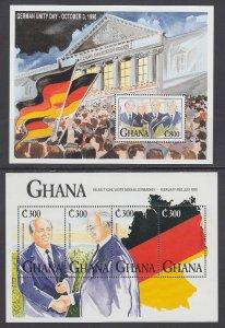 Ghana 1371A,1371F,1372 Souvenir Sheets MNH VF