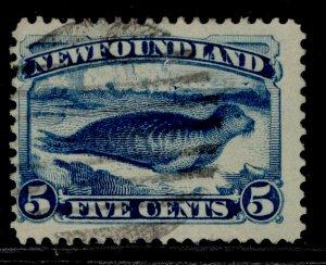 CANADA - Newfoundland QV SG53, 5c deep blue, USED.