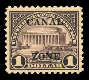 momen: US Stamps #95 Canal Zone Mint OG XF