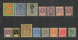 Sierra Leone Sc#103-117 M+U/H/F-VF, Partial Set, Cv. $479.60