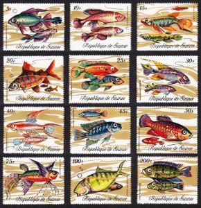 Guinea Fish 12v SG#729-740 MI#571-582A SC#570-581 CV£10+