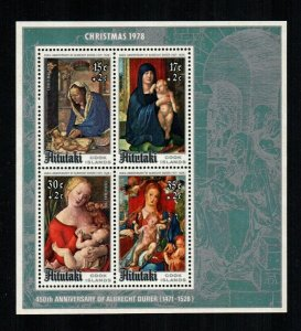 AITUTAKI - 1978 - CHRISTMAS - VIRGIN & CHILD - ALBRECHT DURER - MINT NH S/SHEET!