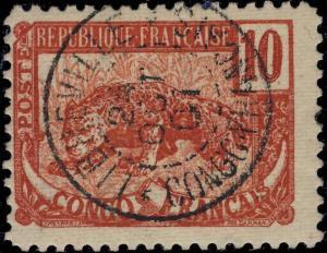 A.E.F. / CONGO / GABON - 1901 - CAD LIBREVILLE / CONGO FRANÇAIS SUR Yv. 31