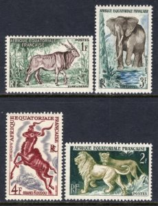French Equatorial Africa 195-198 Animals MNH VF