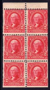 MALACK 301c F/VF OG NH, fresh booklet pane, better c..MORE.. w5388