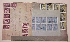 BULGARIA  10 or MORE STAMPS ON 1922,1952,1962 REGISTERED COVERS 2 TO USA