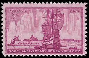 PCBstamps   US #1027 3c New York City, MNH, (PCB-38)