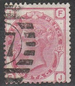 Great Britain #61 Plate 12 Fine Used CV $47.50  (A9377)