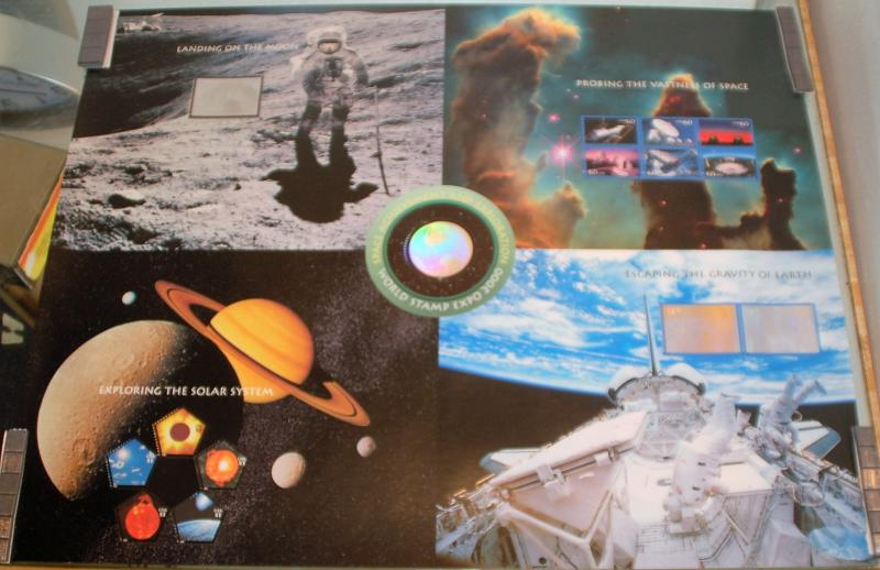 USPS 2000 Mint Sheet of Space Achievement stamps