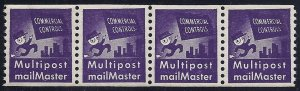TD91 XF-SUP Test/Dummy Strip 4 Commercial Controls Multipost Mailmaster MNH