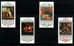 DOMINICA - 1969 - WHO - 20th ANNIV - PAINTINGS - RUBENS - REMBRANDT ++ MNH SET!