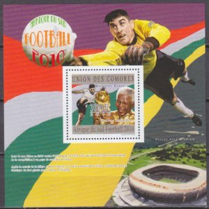 2010 Comoro Islands 2858/B600 2010 World championship on football South Africa 1