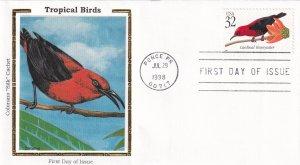 1998, Cardinal Honeyeater, Colorano Silk, FDC (E11836)