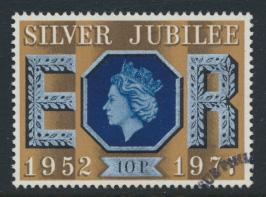 Great Britain  SG 1035 SC# 812 Used / FU with First Day Cancel - Silver Jubilee