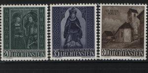 LIECHTENSTEIN 329-331 (3) Set, Hinged, 1958 Christmas