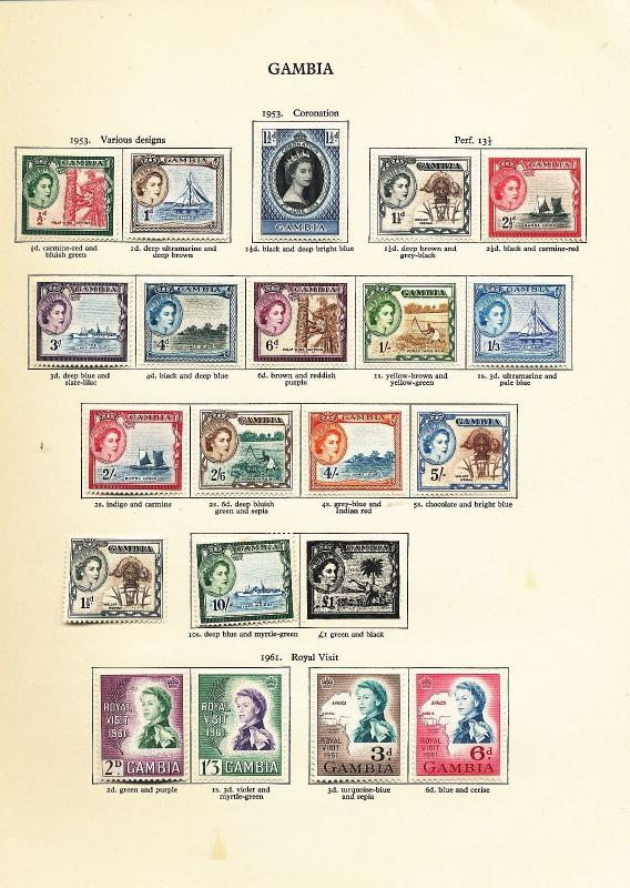 GAMBIA 1966/69 Birds MNH MH To 10s (60+Items) AU10774