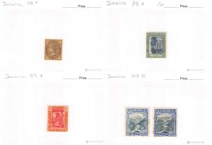 Lot of 56 Jamaica Mixed Condition Stamps Scott Range 48-393 #142850 R