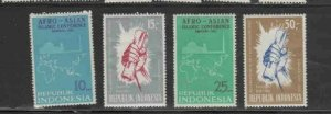 INDONESIA #651-654 1965 AFRO-ASIAN ISLAMIC CONFERENCE. MINT VF NH O.G