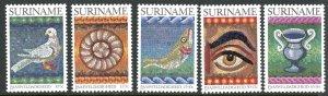 Suriname B299-303 Mosaic Art MNH mint      (Inv 001307.)