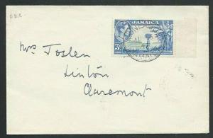 JAMAICA 1949 (15 Aug) GVI 3d FDC - Montague cds............................61026