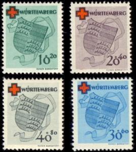 German States- Wurttemberg 8NB1-5NB4 mnh