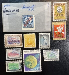 Honduras LOT Used #272 Inverted,C053,C455,C488,C511,O12 + others