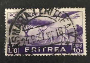 Eritrea 1936 #C12, Used, CV $.85