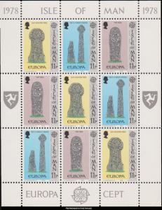 Isle of Man Scott 134-136 Mint never hinged.