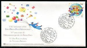 377-378 UN - Geneva UNPA 50th Anniv OFDC
