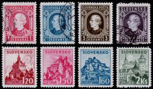 Slovakia Scott 55-57, 58-61, 69 (1940-42) Mint/Used H F-VF