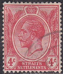 Straights Settlement 183 Hinged Used 1921 King George V