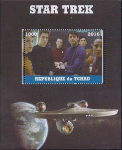 Chad 2016 Star Trek  Stamp Souvenir Sheet 3B-488