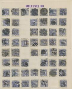 #114 (499) USED ON 11 PAGES COLLECTION W/ FANCY CANCELS CV $8,700++ WL9077