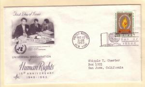 United Nations FDC Sc. # 121 Human Rights      L 57