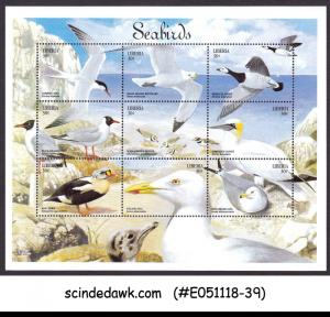 LIBERIA - 1999 SEABIRDS / BIRDS - MINIATURE SHEET MNH