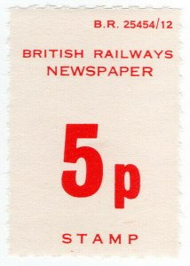 (I.B) British Railways Board : Newspaper Parcel 5p