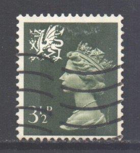 GB Regional Wales, 1971 Machin 3.1/2p used