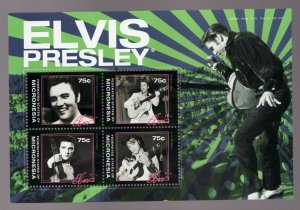 Micronesia - Elvis Presley postal souvenir sheet #908 -  superfleas