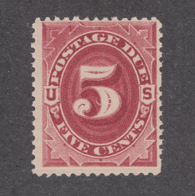 US Sc J25 MNH. 1891 5c claret Postage Due, F-VF