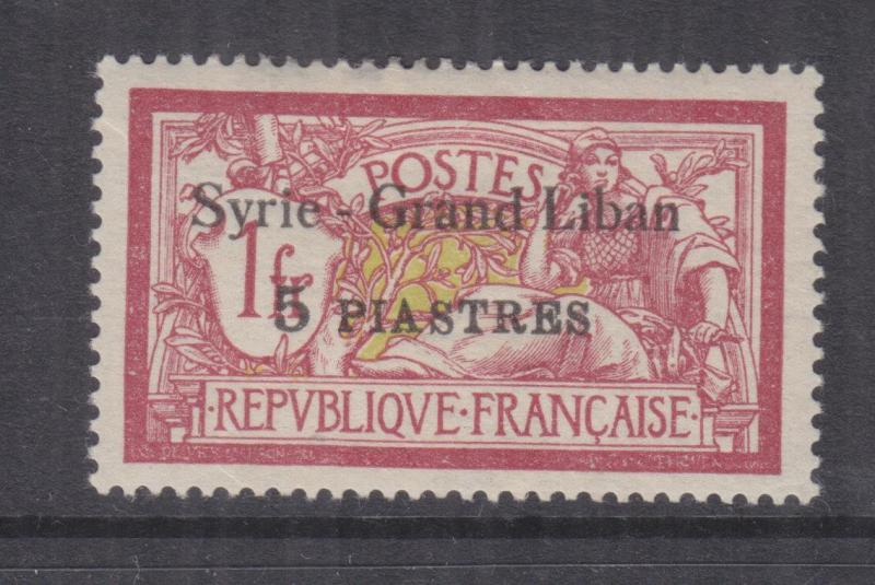 SYRIA, 1924 Syrie-Grand Liban, 2pi. on 40c. Red & Pale Blue, lhm.
