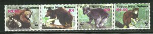 Papua New Guinea MNH 1090a-d Tree Kangaroo 2003 SCV 8.00